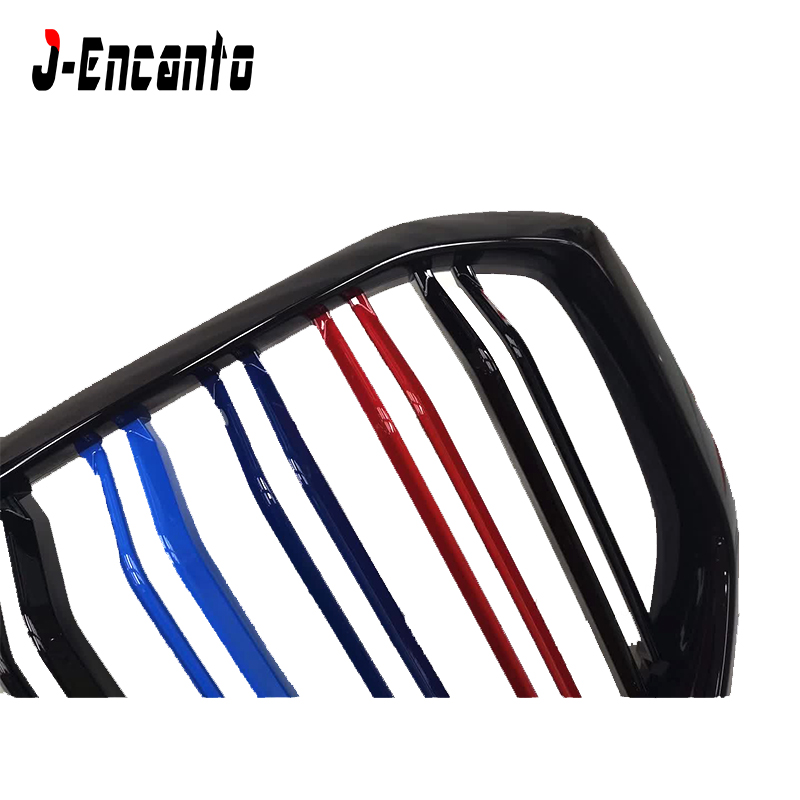 A pair Front Kidney Grille For BMW new X5 G05 Grille Front Bumper Grill Car Styling Double line three color in Racing Grills from Automobiles Motorcycles