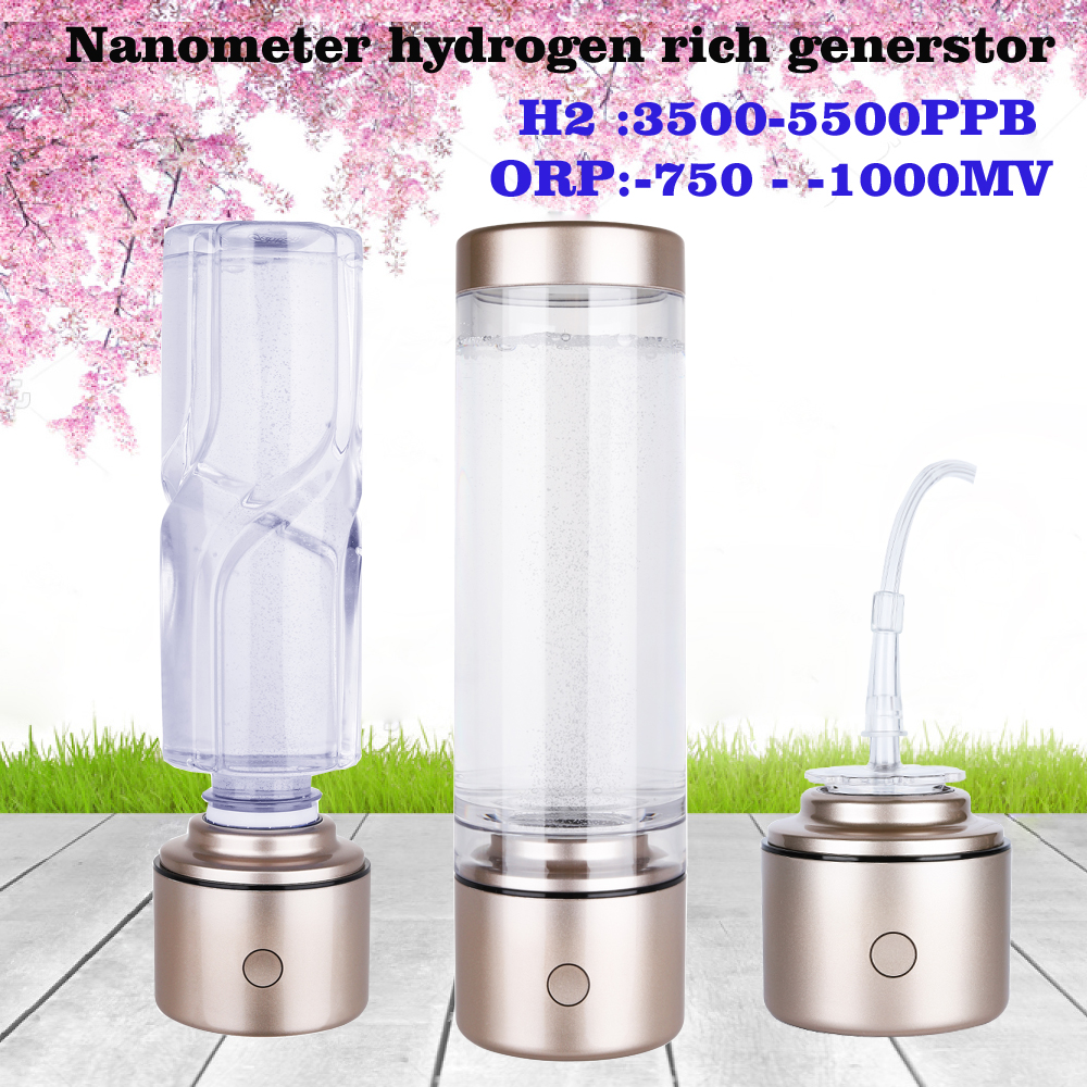 Hydrogen Rich  Water Bottle Portable Multifunctional Breathing Hydrogen SPE Nanometer High H2 Generator IHOOOH Manufacturer