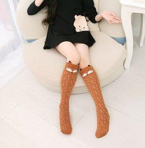 Image 2 - Baby Girls Cartoon Socks Fox Bear Animal Baby Cotton Socks Knee High Long Leg Warmers Socks Boy Girl Children Socks 1.5kg#36