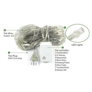 Image 4 - Luces de red LED para exteriores, 6x4M, 3x2M, 1,5x1,5 M, luz de árbol de Navidad feérico, luz de red de pesca, Decoración Para Boda o fiesta