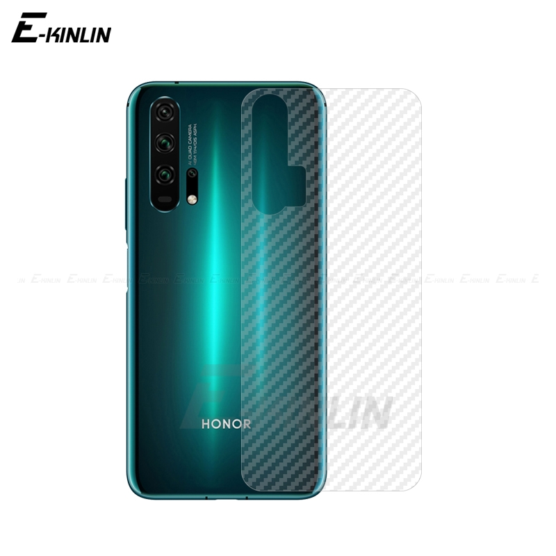 Clear Soft Carbon Fiber Back Film For HuaWei Honor 20S 10i 20i View 10 20 30 Pro 8 V9 Play Lite Rear Screen Protector Not Glass
