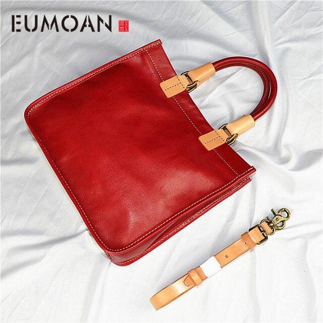 EUMOAN modele wybuchu kolor pierwsza warstwa skóry wołowej torebki proste art torebki ręcznie sadzone zamszowe torebka w Torby z uchwytem od Bagaże i torby na  Grupa 1