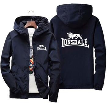 Spring and autumn mens jacket hip hop windbreaker brand printed hoodie casual zipper men retro nostalgic street