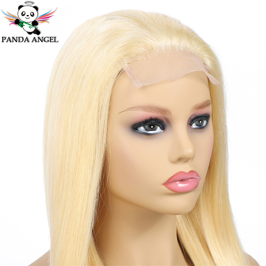 H4f843aa67d6945e79db4a1eec5cade30p Panda 4x4 Honey Blonde Lace Wigs #613 Brazilian Hair Ombre Straight Lace Closure Wig 150% Density Blonde Human Hair Wigs Remy
