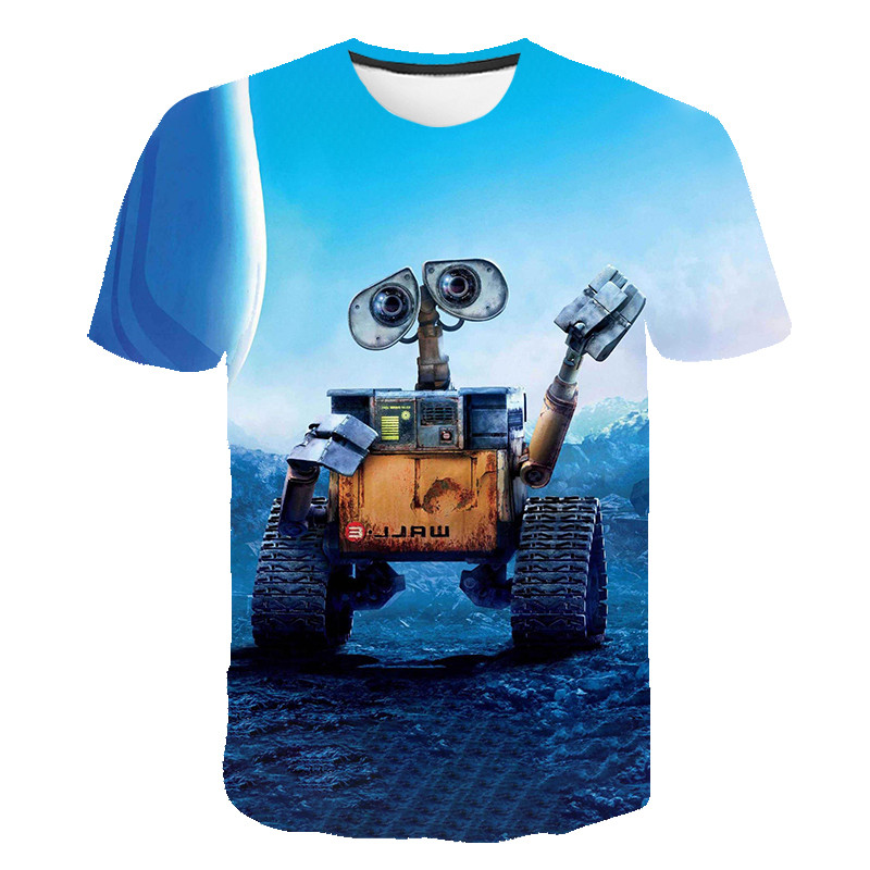 Wall-E Eve Robot Couple Cartoon Funny 3D T Shirt Men Women Children WALLE Tshirt Kids Short Sleeve Tees Boy Girl Cool T-shirt