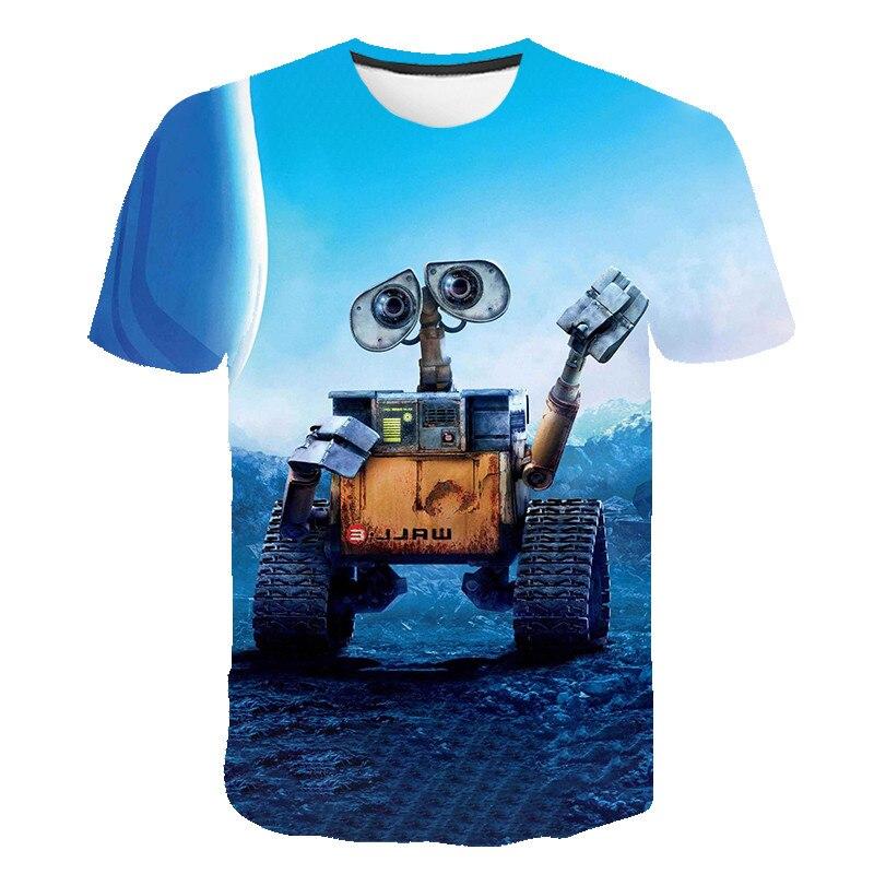 Wall-E Eve Robot Couple Cartoon Funny 3D T Shirt Men Women Children WALLE Tshirt Kids Short Sleeve Tees Boy Girl Cool T-shirt