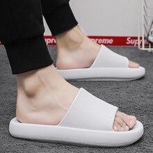Bath Slippers Men EVA Non-slip Men's Summer Shoes Platform Soft Unisex Slipper for Home Household Solid Beach Slippers