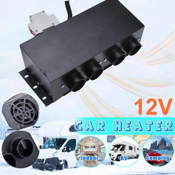 Electric 600W-800W 12V Car Heater Windscreen Defrosting Demister Heating Warmer Single Switch/four-hole Air Outlet Heater