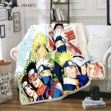 Anime naruto uzumaki 3d impresso velo cobertor para camas colcha grossa moda colcha sherpa lance cobertor adultos crianças 22