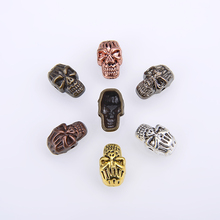 Mask Accessories Skull Big Hole Beads Fit Bracelet European Bead Charm Death Head For DIY Necklace