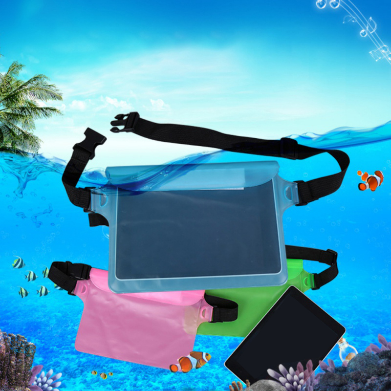 Summer Waterproof Sports Bag Waist Bag Swimming Drifting Diving Waist Fanny Pack Pouch Underwater Sealing Mobile Phone Pouch