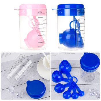 Plastic Measuring Cup Kitchen Scales Digital Beaker Tool Scale Cups Measuring Spoon Scoop Sets For Kitchen Baking Coffee image