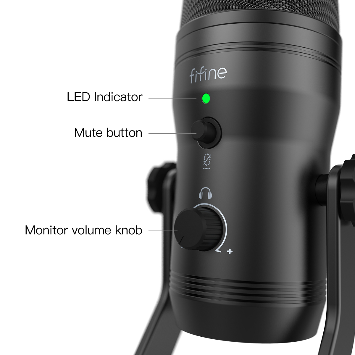 FIFINE K690 USB MIC WITH FOUR POLAR PATTERNS, GAIN DIALS, A LIVE MONITORING JACK & A MUTE BUTTON 8