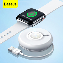 цена на Baseus Qi Wireless Charger For Apple Watch 4 3 2 1 Series Magnetic USB Charger Fast Wireless Charging Pad For iWatch With Cable