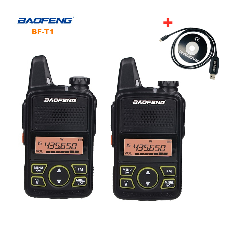 Baofeng BF-T1 Mini Walkie Talkie UHF Portable Two-way Radio BF T1 Ham Radio Handheld FM Transceiver Kids 5km CB Radio Intercom
