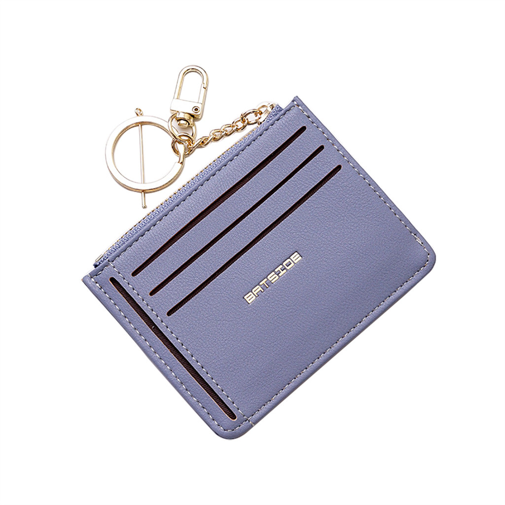 Sleeper #P501 2019 NEW FASHION Women Short Fresh Student Bag Simple Multi-card Seat Buckle Coin Purse Solid Mini Free Shipping