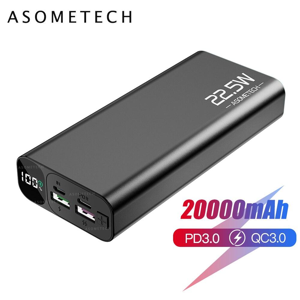 20000mAh 5A Super rapide Charge QC3.0 batterie d'alimentation USB C PD3.0 Flash chargeur rapide batterie externe Powerbank pour iPhone 12 Xiaomi