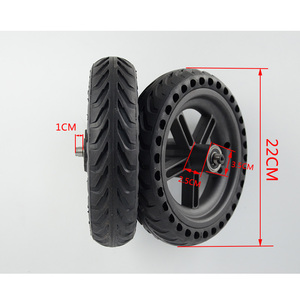 Image 3 - 2019 Scooter Tyres Rear Wheel Hub For Xiaomi Mijia M365 8.5 Inch Damping Solid Tyres Hollow Non Pneumatic Tires Original Factory