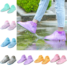 1 Pair Reusable Shoe Covers Medical Waterproof Boot Plastic Overshoes Rain Multi-color optional