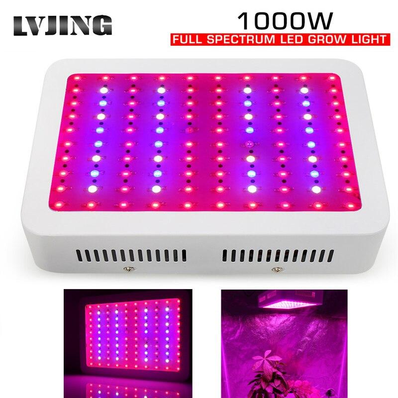Espectro completo 1000W Levou Crescer Chips de Luz Duplo para Plantas de Interior Flor do Diodo Emissor de Luz com efeito de Estufa Crescimento Veg Levou Crescer luzes do painel