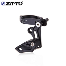 ZTTO Guía para cadena de bicicleta CG02 31,8 34,9, abrazadera de montaje, guía de cadena, montaje directo, Tipo E, ajustable para bicicleta de montaña y grava, 1x