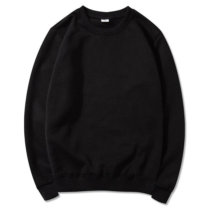 Pure  Color Single Piece Round  Collar Men's Clothing   Harajuku  Hip Hop   Coat Men  S-XXXL Men Sweatshirt  Stranger Things New