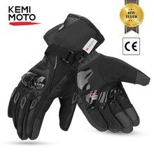 KEMiMOTO Winter Motorcycle Gloves Touch Screen Motorcross Waterproof Windproof Protective Winter Gloves Men Guantes Moto Luvas