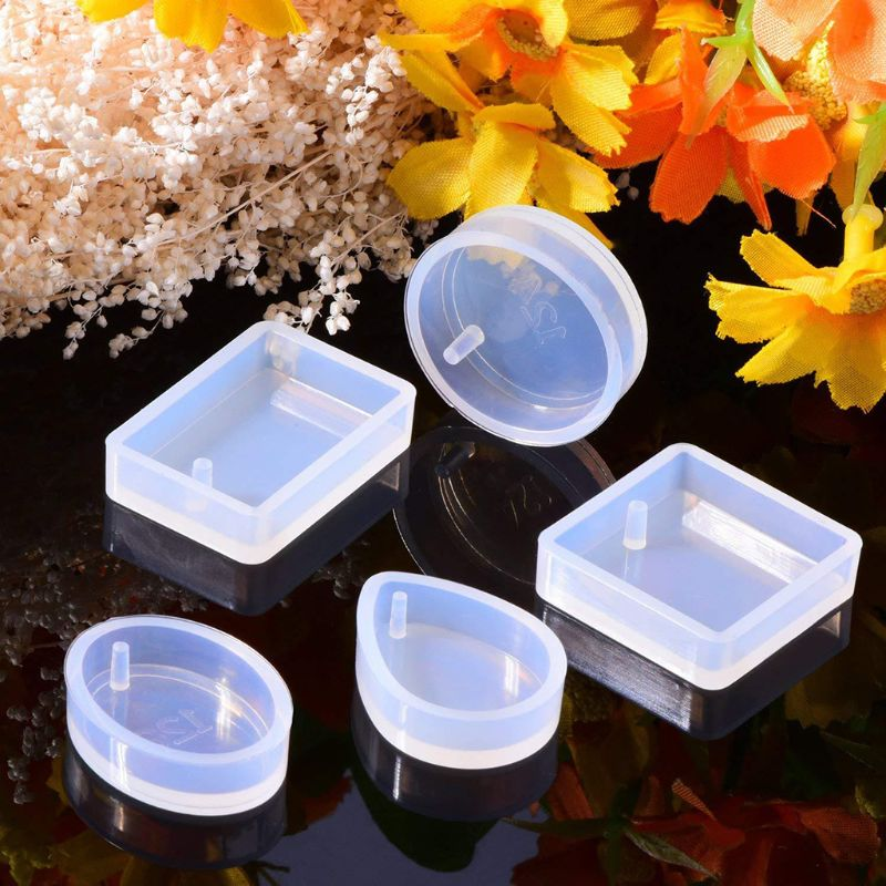 1 Set Silicone Mold Kit Epoxy Resin DIY Jewelry Making Cake Decoration Crafts Art Silicone Molds Clasp Pins Tools Crystal