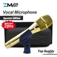 2pcs Top Quality Special Edition KSM9 Professional Live Vocals KSM9G Dynamic Wired Microphone Karaoke Super Cardioid Podcast Mic