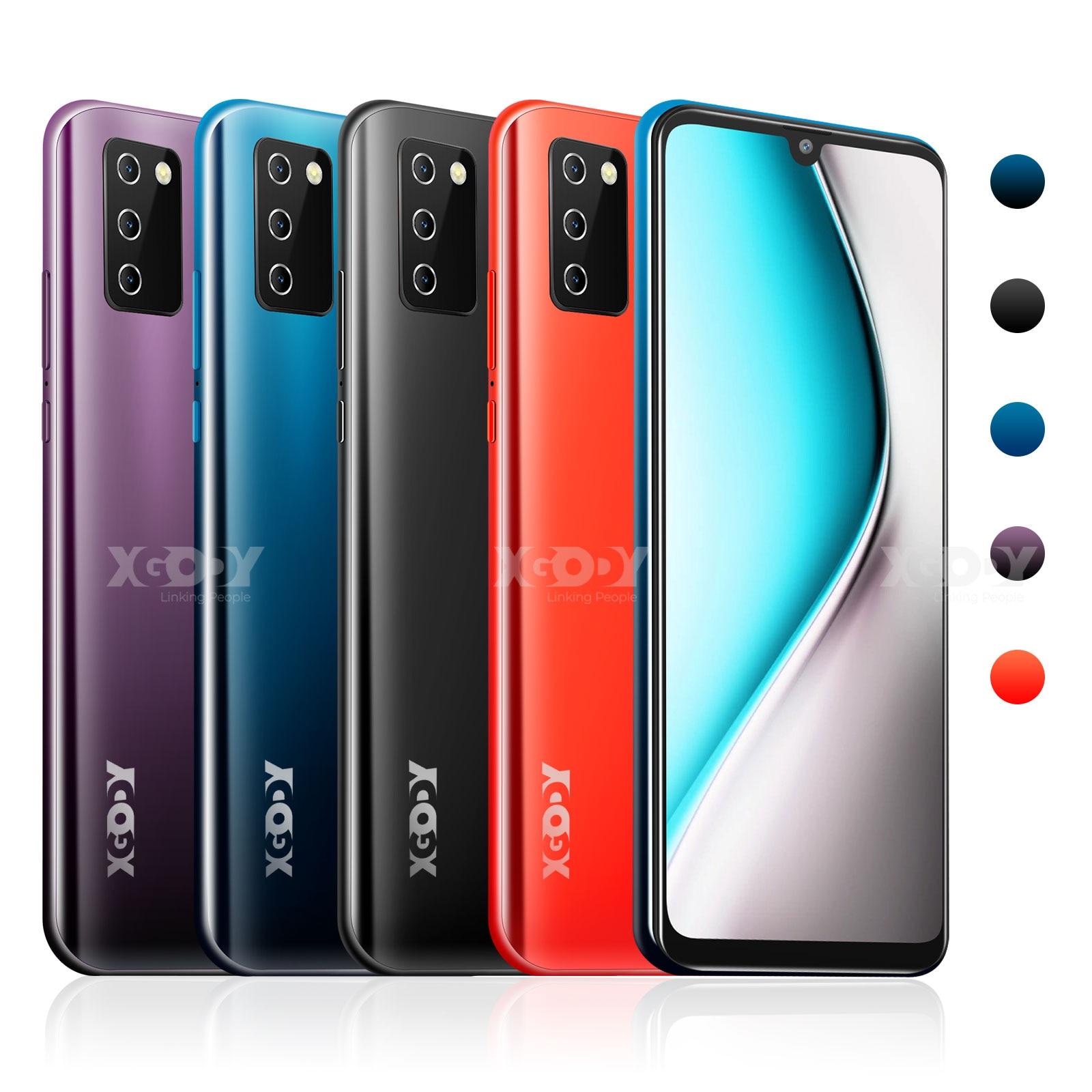 "XGODY NOTE 10 Android 9.0 4G mobile phones 2GB RAM 16GB ROM Face ID 5MP Camera Dual SIM GPS WIFI 7.2"" 19:9 smartphone Quad Core 5"