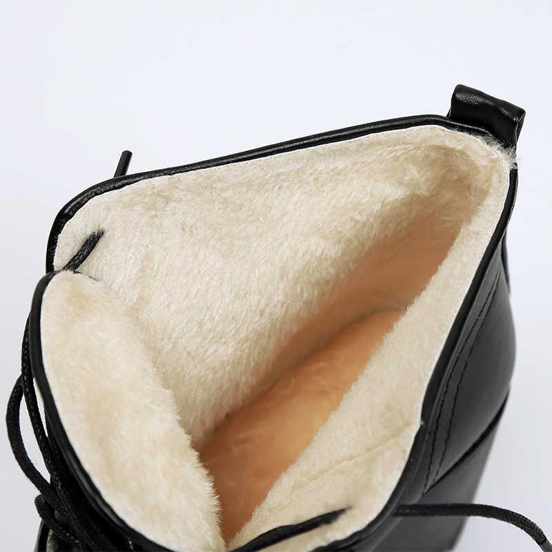 Neue frauen mode stiefel schnee Martin schuhe stiefeletten casual plattform stiefel warme stiefel Wasserdicht high heels 34- 43