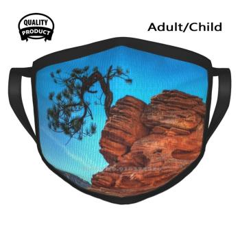 Dust-Proof Outdoor Warmer Mouth Mask Zion National Park Formations Mesa Mountain Canyon George Buxbaum George Buxbaum Juniper image