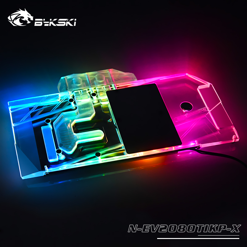 Bykski Water Block Use For EVGA RTX 2080TI KINGPIN Cover Copper Radiator Block/ 12V RGB / 5V A-RGB Light