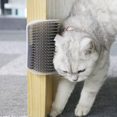 Pet Comb Cat Corner Scratching Rubbing Brush Self Groomer RemovableComb Brush With Catnip Cat Rubs The Face With Tickling Comb