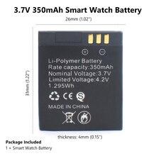 MJKAA 3.7V GT-08 Rechargeable Batteries Li-Po Lithium Li-polymer Li-ion Polymer Battery 350mAh for Smart Watch