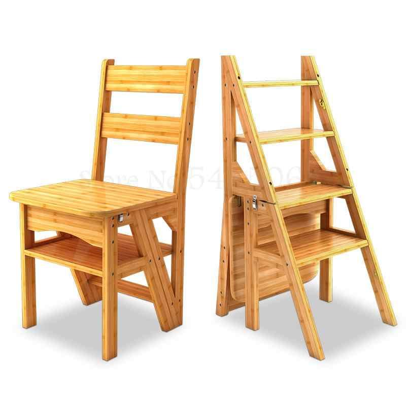 อเมริกันไม้ Dual-ใช้เก้าอี้บันได,Herringbone บันได,Multi-Function สตูลระดับบันไดปีนเขา,ครัวเรือน F