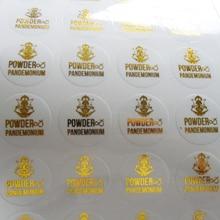 Дизайн логотипа на заказ, Прозрачная ПВХ наклейка с металлическим, серебряным/золотым/черным/красным/фиолетовым/синим/розовым принтом