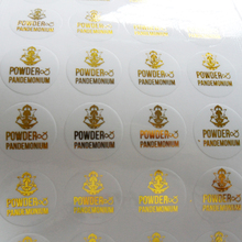 Adesivo transparente para etiqueta, etiqueta de pvc transparente com design personalizado, metálico, prata, dourado, preto, vermelho, roxo carimbo folha de impressão azul/rosa