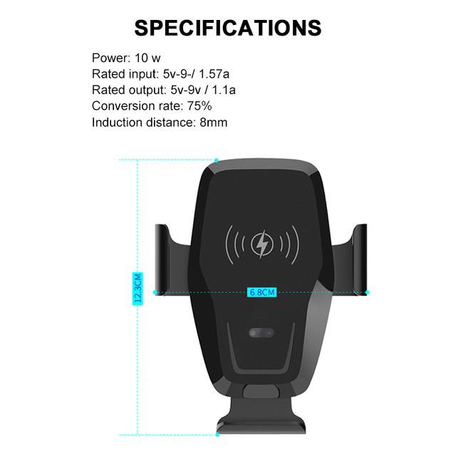 Car Wireless Fast Charger Phone Holder