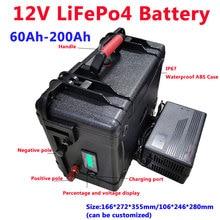 GTK LiFePo4 12V 60AH/80AH/100AH/120AH/150AH/180/200AH литий Батарея с bms для рыбы лодка питания транспортного средства+ 10A зарядное устройство