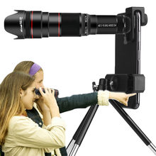 4K HD 50X Optical Zoom Camera Lens Telephoto Lens Monocular Mobile Phone Telescope for iPhone Smartphones Hunting Camping Sports(Hong Kong,China)
