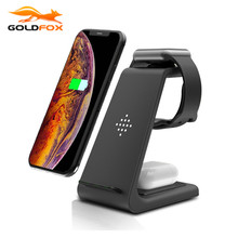 3 en 1 10W chargeur sans fil rapide pour iPhone 11 pro X chargeur Station daccueil pour Apple Watch 4 5 pour Airpods support de chargeur sans fil
