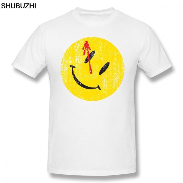 Watchmen T Shirt Watchmen Smiley T-Shirt Oversized Cotton Tee Shirt Graphic Short Sleeve Man Funny Streetwear Tshirt sbz8055