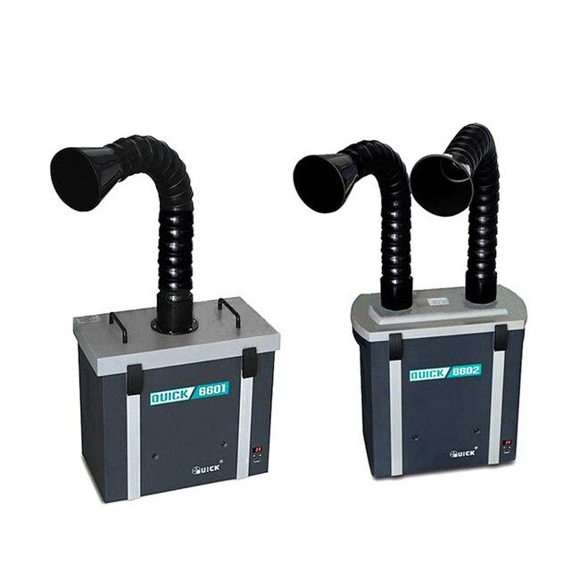 QUICK 6601/6602 purificador de humo, instrumento para fumar, protección del medio ambiente, sistema de depuración de humos de Posición única/Dual