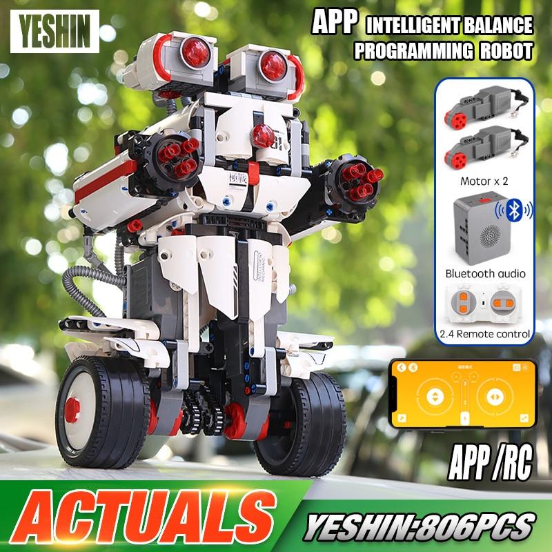 Yeshin App Control Robot Compatible With 31313 Mindstorm Robot Set Building Blocks Bricks Programming Toys Kids Christmas Gifts