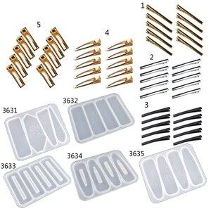 Заколка-пряжка для волос клип силиконовый эпоксидная смола, форма заколки для волос ювелирные изделия пресс-форма для литья инструменты W8KF