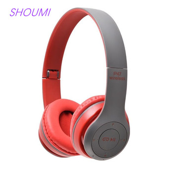 Wireless Headset Noise Cancelling Bluetooth Headphones Hifi Stereo Bass Gaming Headband Earphone with Mic for Xiaomi Cell Tablet