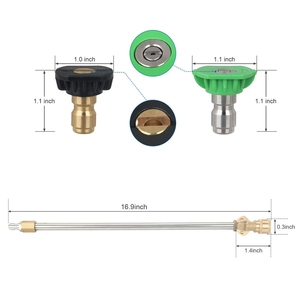 Image 3 - Pressure Washer Wand with Adjustable Angle Nozzle, 16 in ch Spray Lance 180 Degree with 5 Angles Quick Connect Pivot Adapter Cou