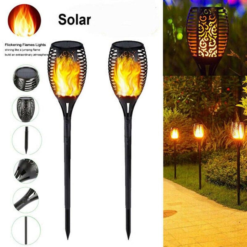 Solar Flame Torch Light LED Outdoor Lamp Garden Decor Landscape Lawn Lamp|Solar Lamps| - AliExpress