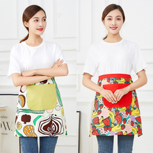 The Korean version of cute adults clean bust apron personality restaurant kitchen work clothes half waist short